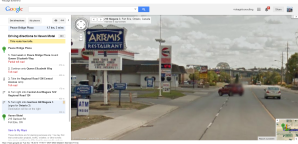 Peace Bridge Plaza to Haven Motel  pioneer gas tim hortons wendys artemis greek restaurants fort erie Google Maps