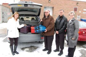 meals on wheels fort erie (gilmore lodge) staff sharon king ward 2 counc rick shular volunteer harold baker and executive director nancy ryan FSNFE